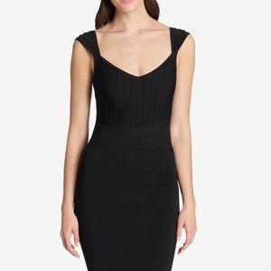 GUESS Sweetheart Bandage Bodycon Dress Black